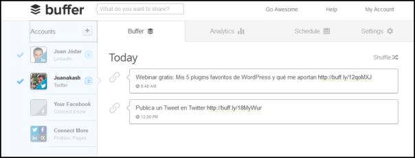 Configurando Buffer