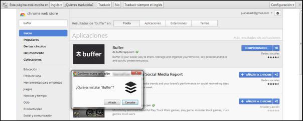 Extensión de Buffer en Google Chrome